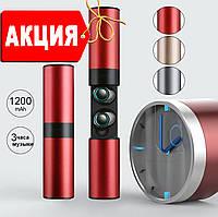 Беспроводные наушники Wi-pods S2 блютуз наушники 5.0 гарнитура Оригинал водонепроницаемые Красный металлик.