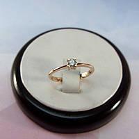 Кольцо с одним камнем Нежность