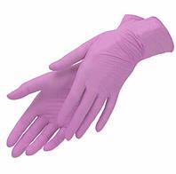 Перчатки нитриловые розовые Nitrylex