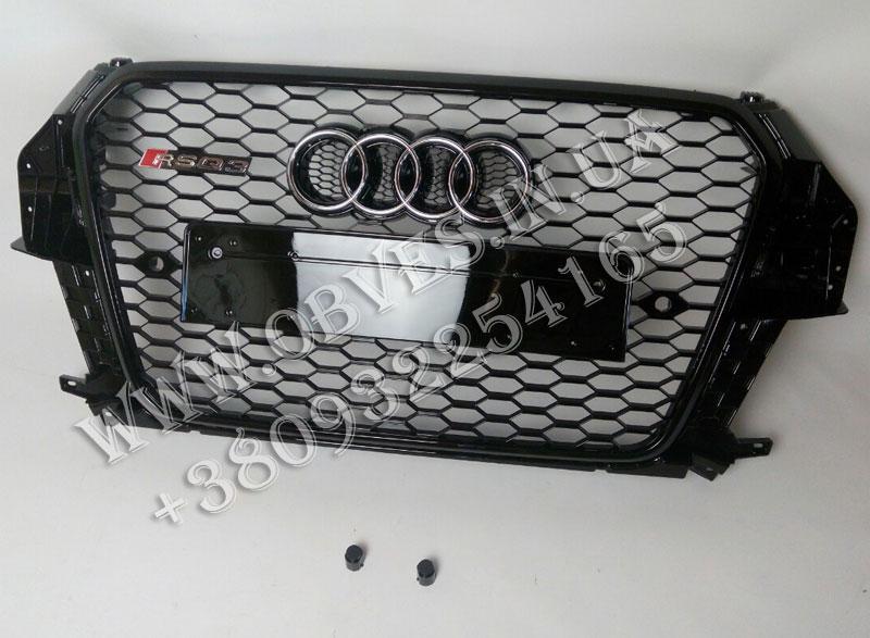 Решетка радиатора RSQ3 для Audi Q3 (черная)