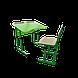 """Школьный комплект одноместный антисколиозный (стол с вырезом+1 стул), ТМ """"Металл-Дизайн"""", фото 3"""