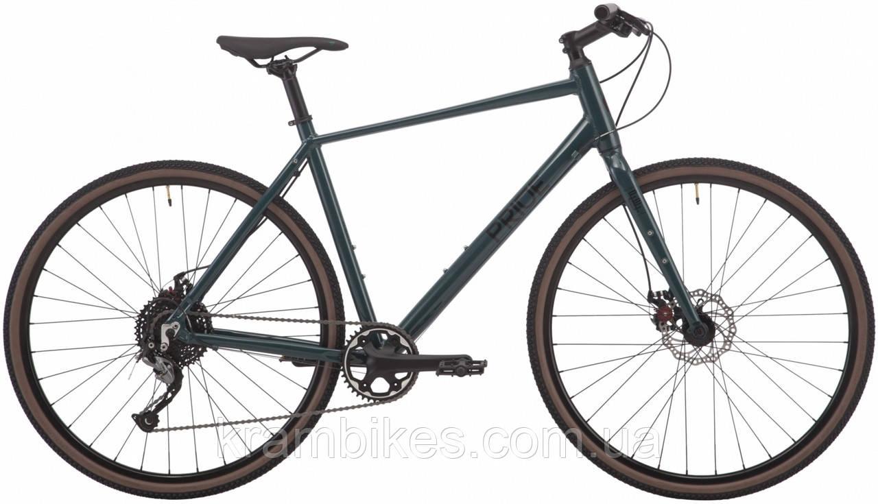 "Велосипед Pride - Rocx Flb 8.2 disc (2019) (28""/700c-L) Тёмно-зелёный"