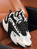 Кроссовки Nike Zoom 2K черно-белые (Найк Зум черно-белые мужские и женские размеры 36-46)