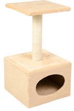 Дряпка-когтеточка для кошек Д11 Природа большая с будкой