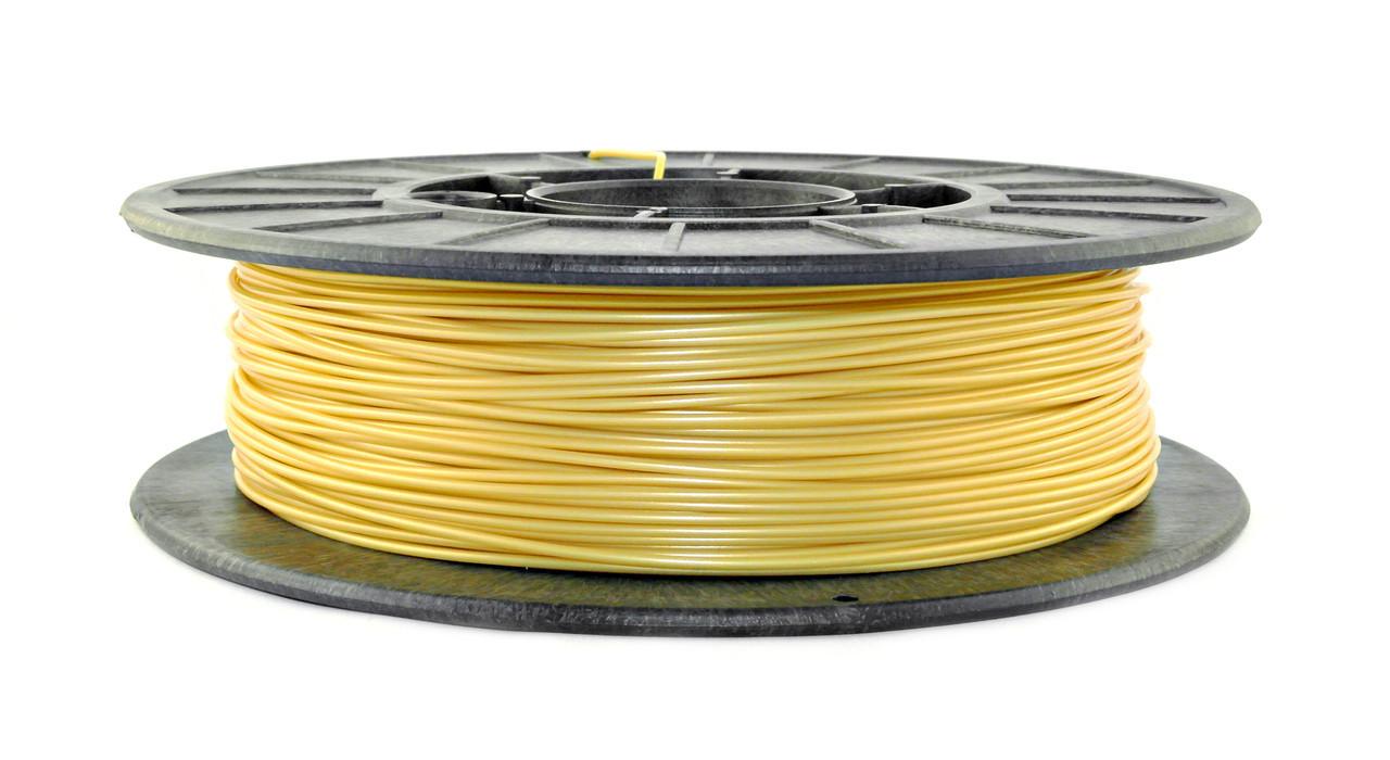 ПЕРЕЦВЕТ Желтое золото на прозрачный зеленый PLA (1.75 мм/0.5 кг)