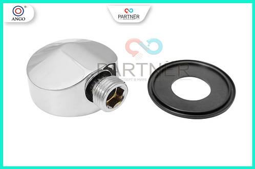 Угол для душевой кабины проходной(круглый c резиновым уплотнителем) 1/2*1/2, хром лат.YD-607 Z ANGO