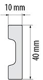 Плинтус напольный   СEZAR   ELEGANCE  LPC-36 , с  дюрополимера , фото 2