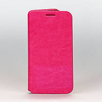 Чехол книжка Pink Leather для Lenovo A606