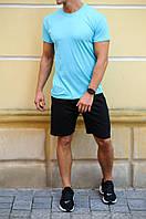 Футболка шорты мужские, в комплекте либо раздельно. Материал 100% хлопок, 10 цветов. код MD-01
