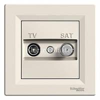 Розетка TV-SAT концевая (1 дБ) крем Asfora Schneider