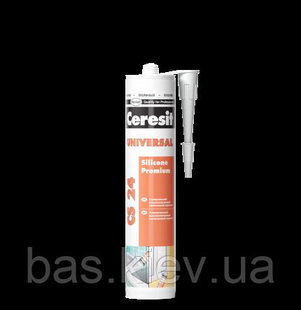Универсальный силиконовый эластичный герметик CS 24 (белый), 280мл