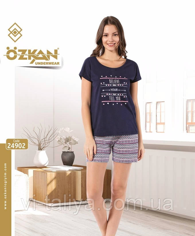 Комплект  женский летний (футболка и шорты) OZKAN, фото 1