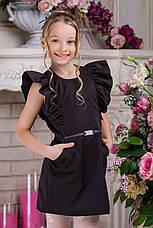 Школьная форма на девочку, сарафан в школу черного цвета , фото 2