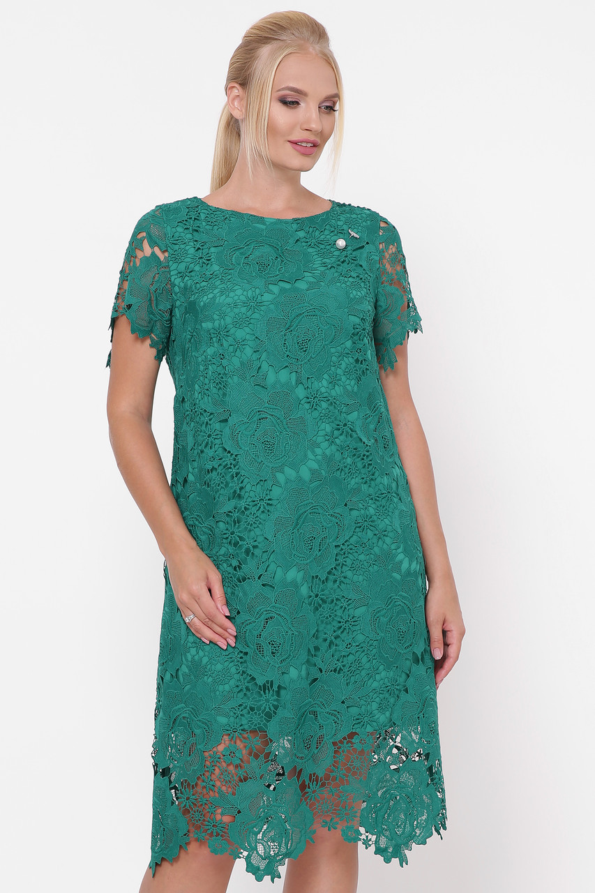 Красивое платье Элен изумруд