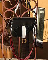 Женская сумочка Dіоr (Диор) SADDLE, черный цвет, фото 1