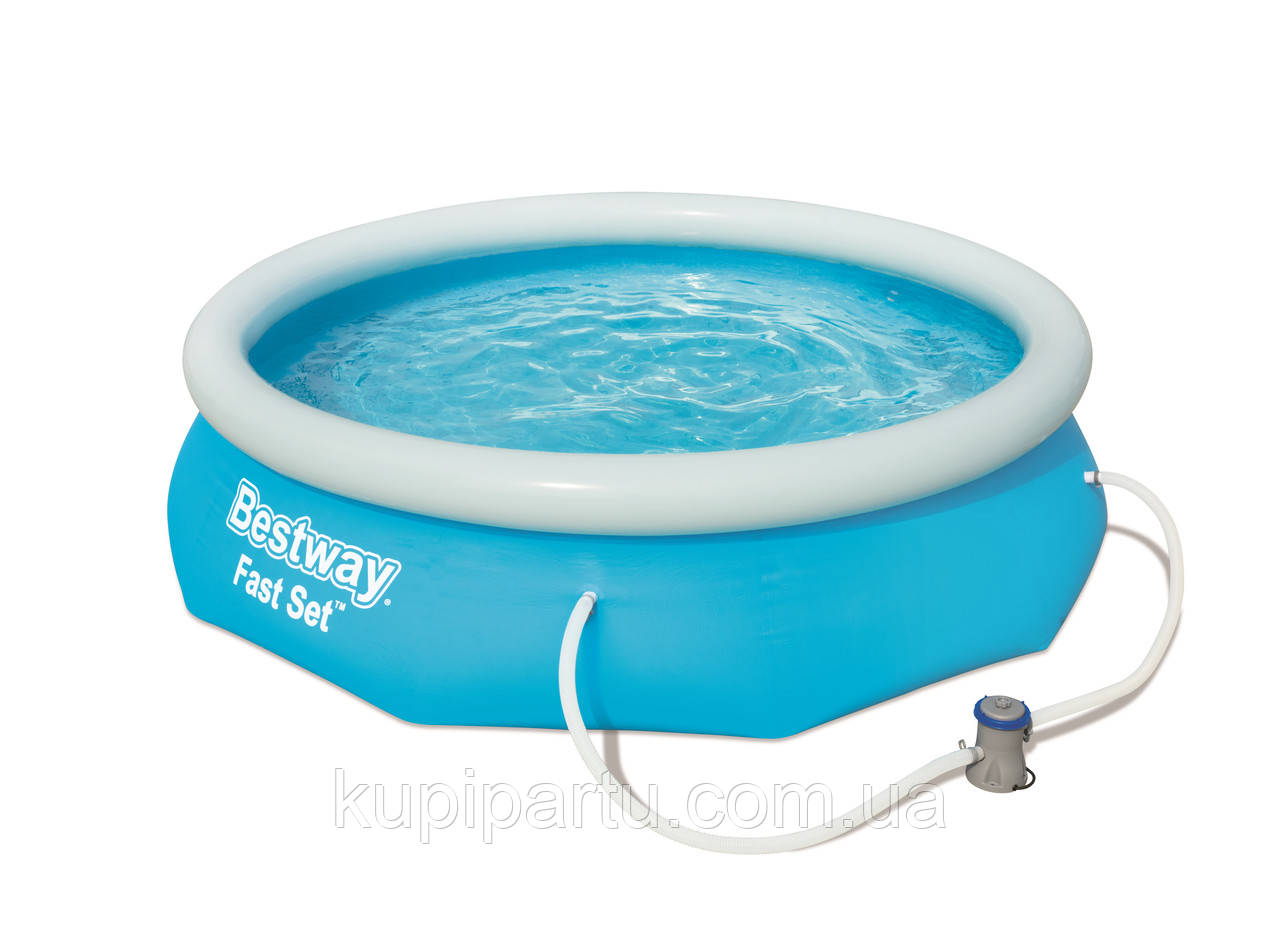 Bestway 57270 Бассейн с надувным бортом 305х76 см, 3800 л, с фильтр-насос 1249л/ч.