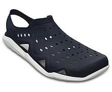 Кроксы мужские сандалии аквашузы оригинал / Crocs Men's Swiftwater Wave Sandal (203963), Темно-синие