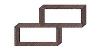 Полка на стену двухуровневая Дуб  Давос трюфель 1000х694х250мм