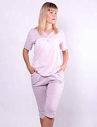 Трикотажная пижама футболка с бриджами р. 48-56