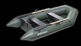 Надувная моторная лодка со сланевым дном Discovery 260х125 см (весло деревянные,слань-4 секций)