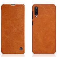 Кожаный чехол (книжка) Nillkin Qin Series для Samsung A505F Galaxy A50