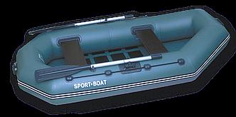 Надувная гребная лодка Laguna (260х125 см) поворотные уключины, насос 5 л