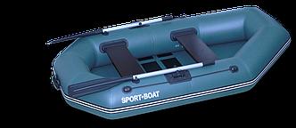Надувная гребная лодка Laguna (220х120 см) поворотные уключины, насос 5 л