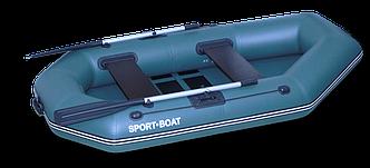 Надувная гребная лодка Laguna (240х125 см) поворотные уключины, насос 5 л