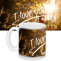 Кружка с принтом I love you forest 330 мл (KR_WOL010)