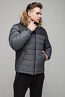 Мужская зимняя куртка RiccardoShort Premium 54 Gray (2rc_016_54)