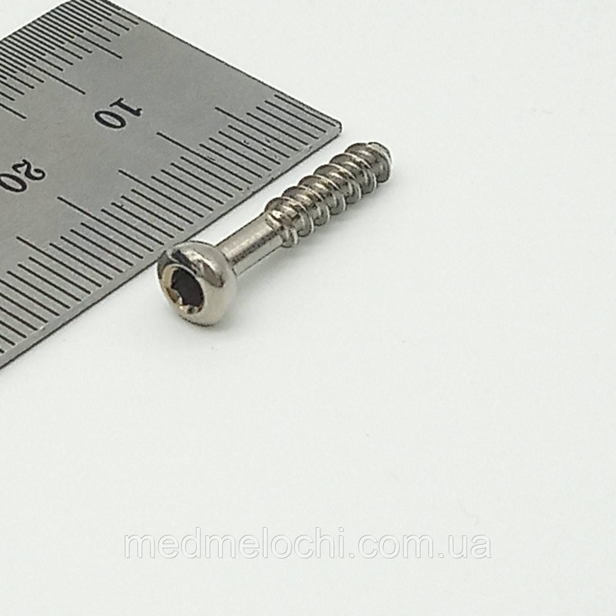 Гвинт малеолярний малий D=3,5мм, 22мм