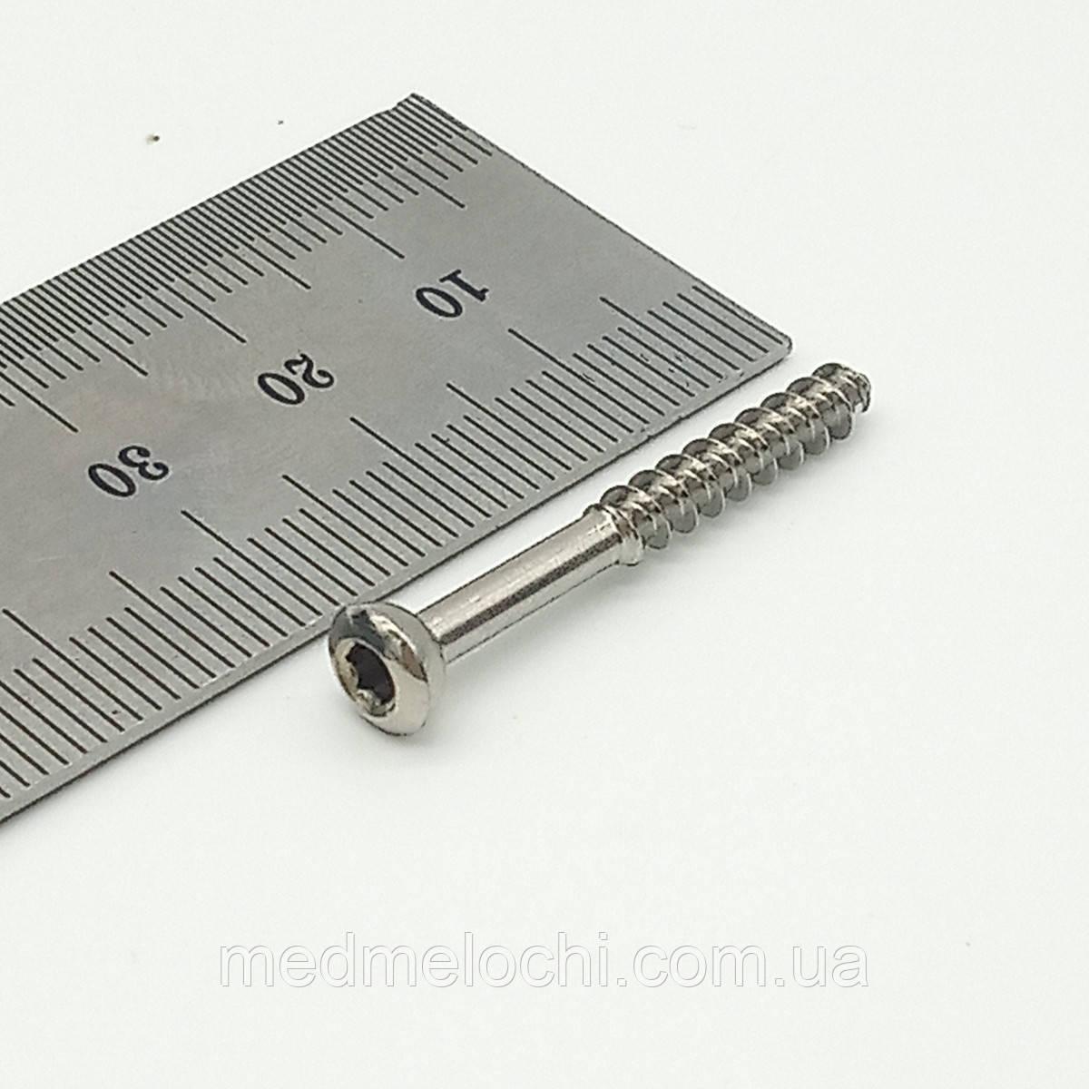 Гвинт малеолярний малий D=3,5мм, 32мм