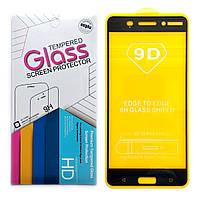 Защитное стекло 9D для Nokia 6 (Black)