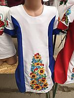 Платье вышитое детское с подсолнухами