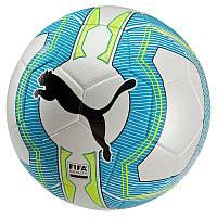 Мяч футбольный Puma EvoPower3.3 Tournament 4 FIFA 082555 01 (из полиуретана, игровой, размер 4, бренд пума)