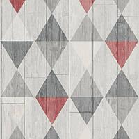 Виниловые обои на флизелиновой основе Collage P+S International Белый-Серый-Красный (42505-20)