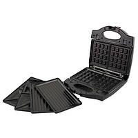 Сендвичница ростер бутербродница тостер 3 в 1 Esperanza PORTABELLA EKT006K Black