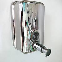 Дозатор для рідкого мила нержавіюча сталь 500 мл., фото 1