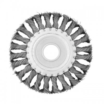 Щетка кольцевая 180*22.2 мм (пучки витой проволоки)