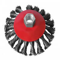 Щетка конусная 100 мм, для УШМ, М14 (пучки витой проволоки)