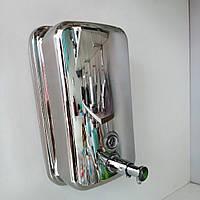 Дозатор для жидкого мыла нержавеющая сталь 1.0 л