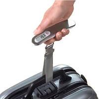 Дорожные электронные весы для взвешивания багажа серебряные KS Scalesforbag