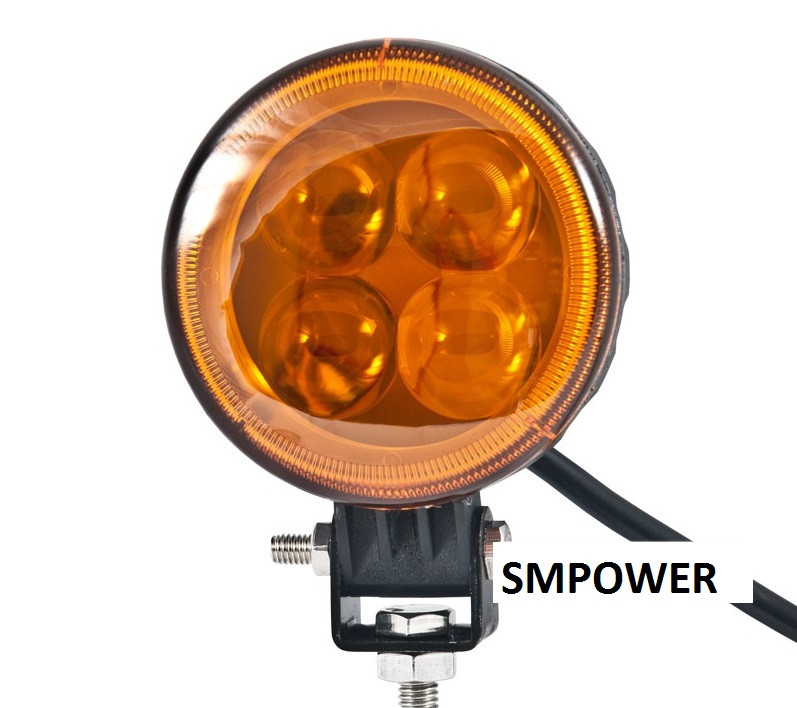Фара LED светодиодная Belauto Spot Amber, 12W, точечный/желтый свет, BOL0403LA