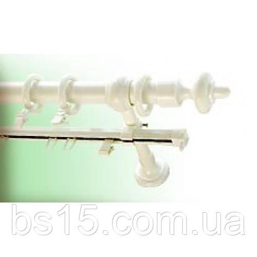 Карниз 1,6 метра одинарный трубчатый металлопластиковый, ассортимент цветов, доставка по Украине, фото 1