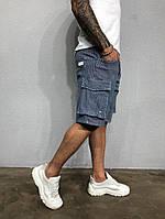 Мужские бриджи джинсовые с большими карманами, фото 1
