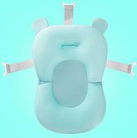 Матрацик у ванночку SUNROZ Bathtub Cushion для купання дитини Блакитний (SUN4474)