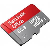 Карта памяти SanDisk Ultra microSD XC 8GB class 10 SD адаптер