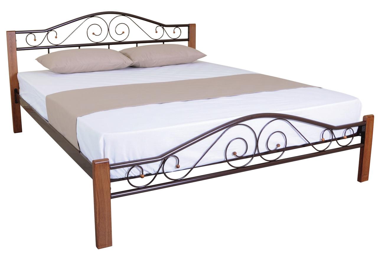 Кровать Элис Люкс Вуд двуспальная ТМ Melbi