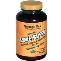 Витамин С (Vitamin C) с апельсиновым  вкусом Nature's Plus  250 мг 90  жевательных таблеток