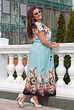 Нарядное женское платье в пол,ткань: шёлк+ кружево,размеры 52,54,56,58., фото 2